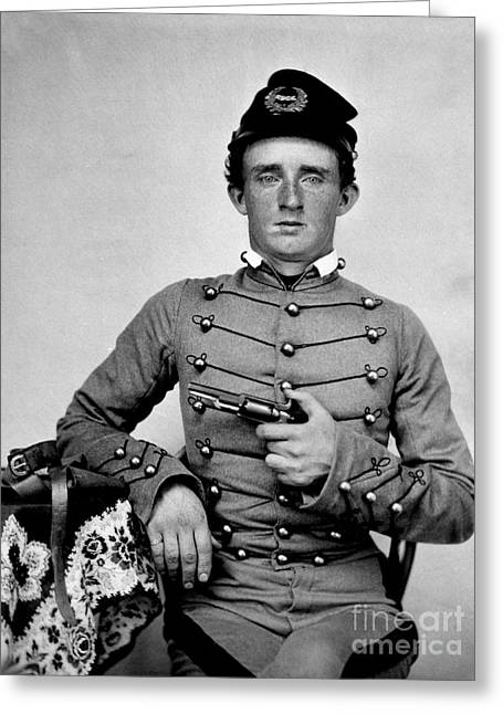 General Custer At West Point Ca 1859 Greeting Card by Jon Neidert