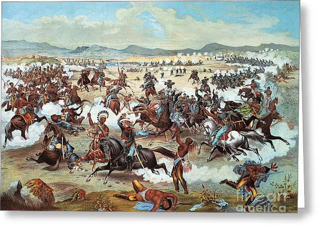 General Custer's Last Stand At Battle Of Little Bighorn, June 25, 1876 Greeting Card