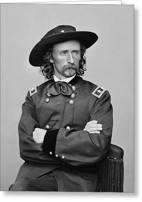 General George Armstrong Custer Greeting Card by War Is Hell Store