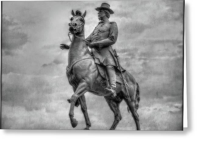 General Hancock Monument At Gettysburg Battlefield Greeting Card by Randy Steele