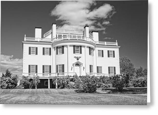 General Henry Knox Estate Thomaston Maine B And W Photo Greeting Card by Keith Webber Jr