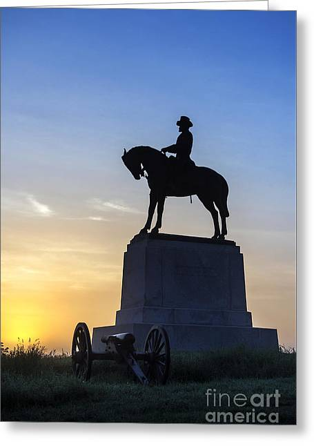 General Howard Monument At Cemetery Hill Greeting Card