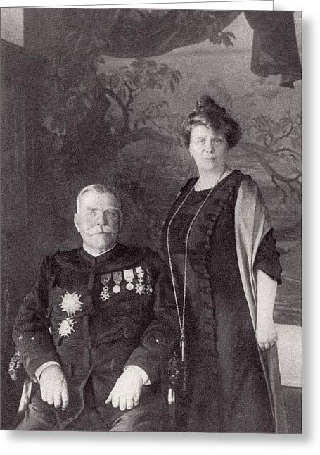 General Joffre And His Wife Madame Greeting Card by Vintage Design Pics