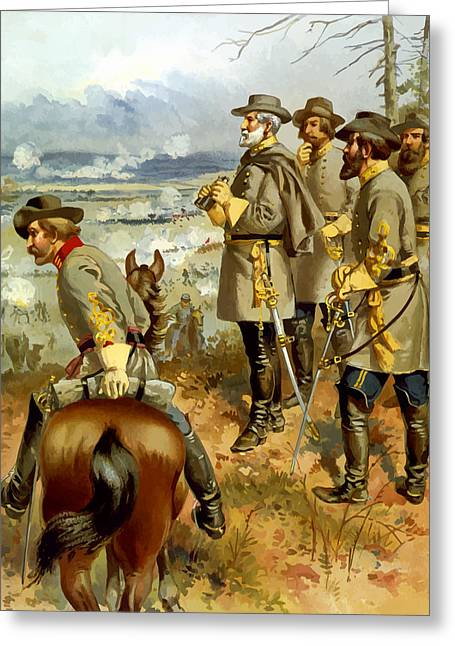 General Lee At The Battle Of Fredericksburg Greeting Card by War Is Hell Store
