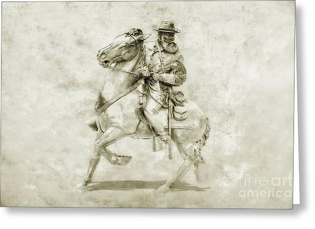General Longstreet At Gettysburg Greeting Card by Randy Steele