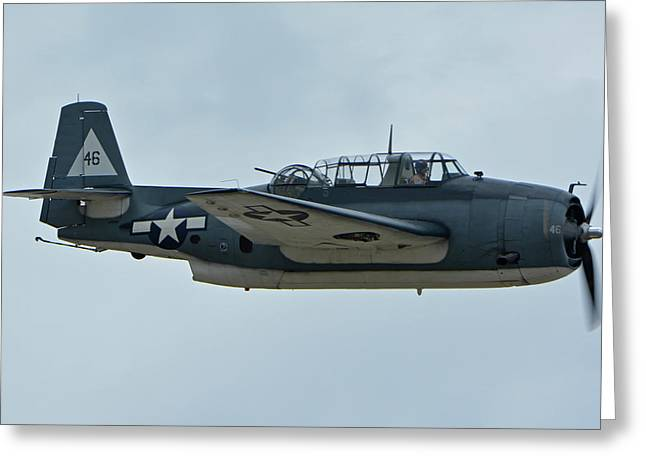 General Motors Tbm-3e Avenger Nx7835c Chino California April 30 2016 Greeting Card by Brian Lockett