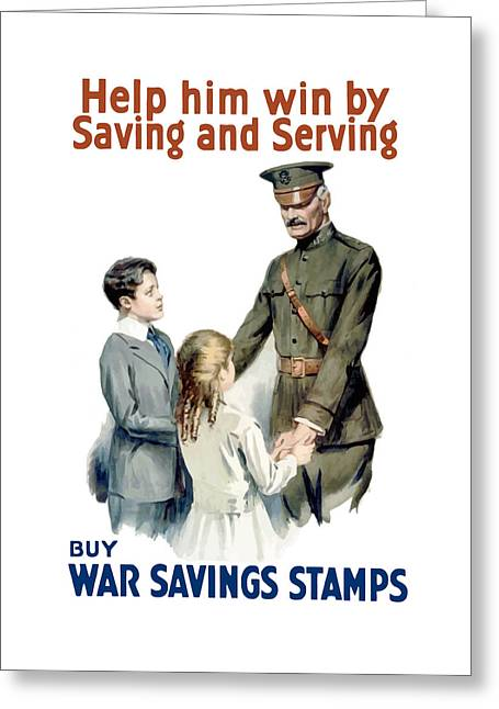 General Pershing - Buy War Saving Stamps Greeting Card by War Is Hell Store