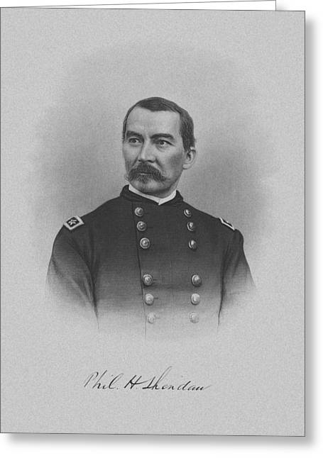 Phil Greeting Cards - General Philip Sheridan Greeting Card by War Is Hell Store