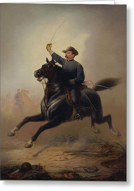 General Philip Sheridan's Ride - Thomas Buchanan Read Greeting Card