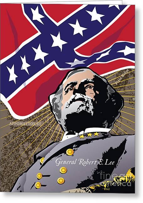 General Robert E. Lee At Appomattox Greeting Card by Joe Barsin