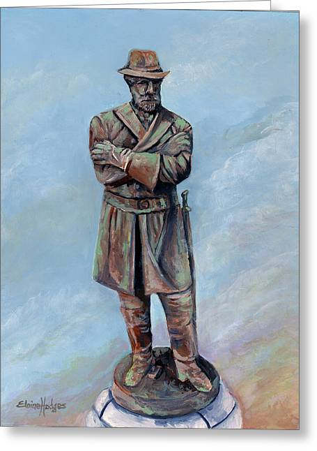 General Robert E. Lee Monument Greeting Card by Elaine Hodges