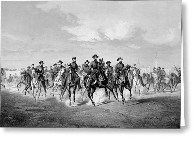General Sherman At Savannah Georgia Greeting Card by War Is Hell Store