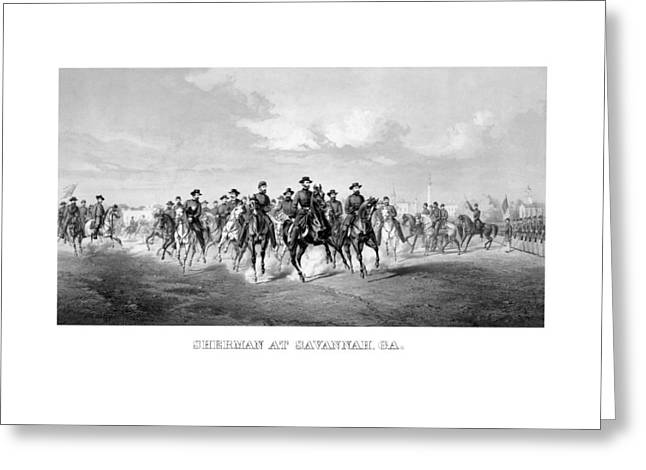Savannahs Greeting Cards - General Sherman At Savannah Greeting Card by War Is Hell Store