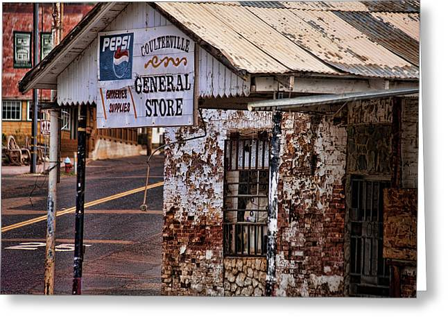 General Store Greeting Card by Bonnie Bruno