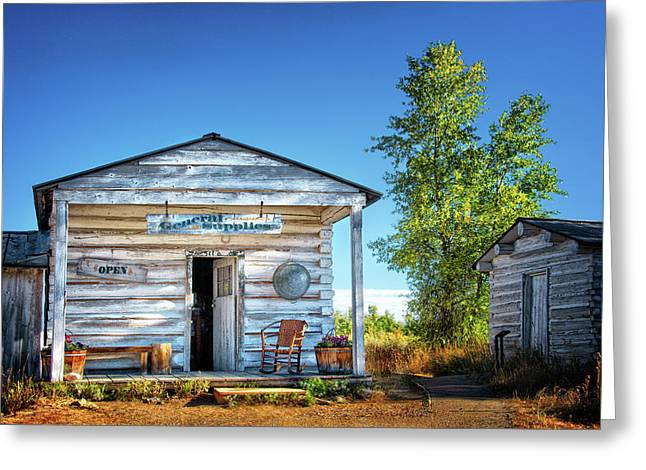 General Store In Grand Tetons Historic District Greeting Card