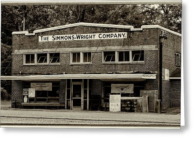General Store - Vintage Sepia With Border Greeting Card