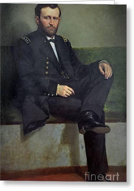 General Ulysses S Grant Greeting Card by George Peter Alexander Healy
