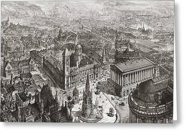 General View Of Birmingham, West Greeting Card by Vintage Design Pics