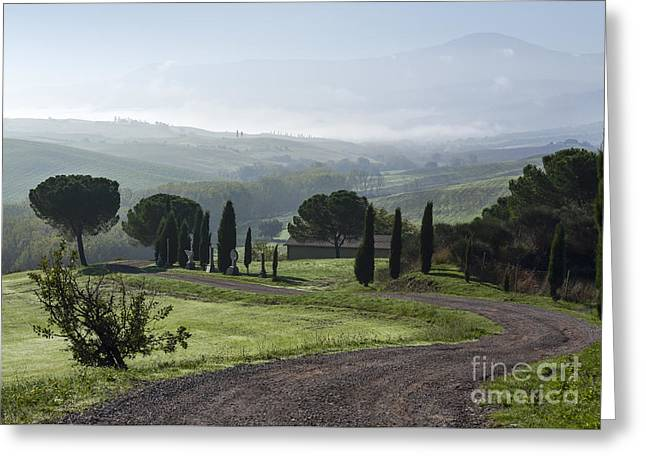 General View Of Val D'orcia, Tuscany Greeting Card