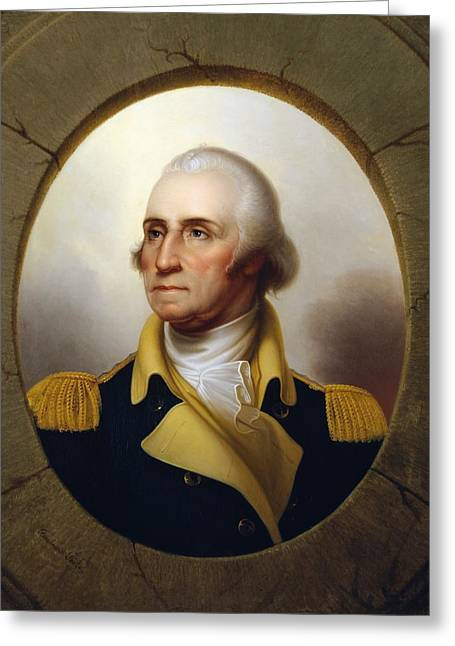 General Washington - Porthole Portrait  Greeting Card by War Is Hell Store
