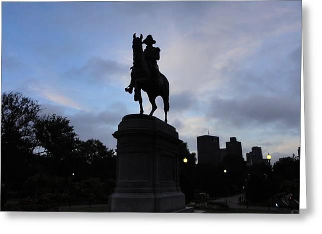 General Washington Rides Greeting Card by Eliot Jenkins