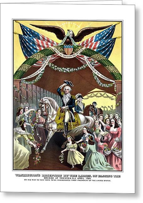 General Washington's Reception At Trenton Greeting Card