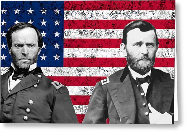 Generals Sherman And Grant  Greeting Card