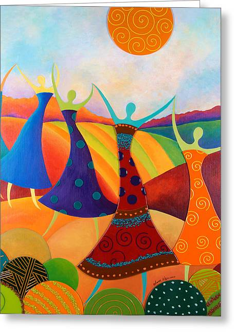 Generational Dance Greeting Card by Anne Nye