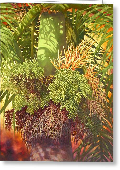Generations Palm Greeting Card by Monica Linville