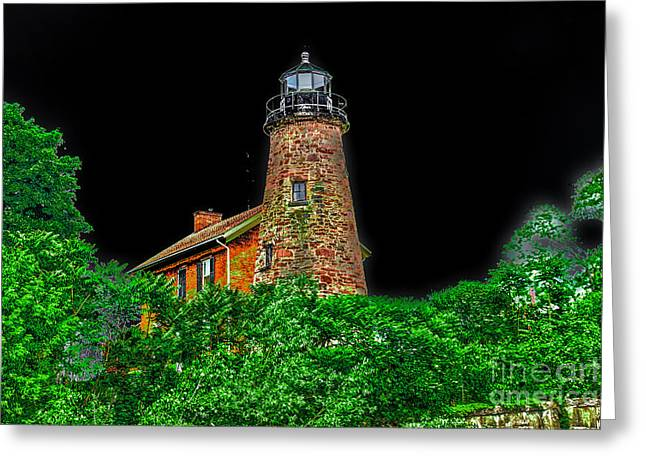 Genesee Lighthouse Greeting Card