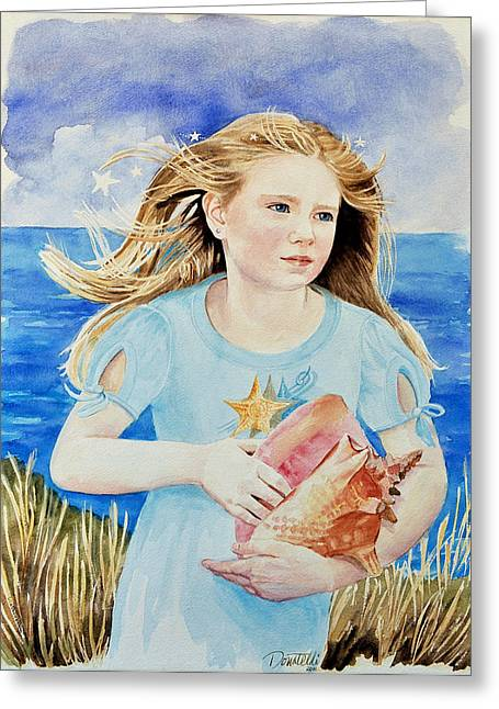 Genesis Conch Shell Rescuer Greeting Card