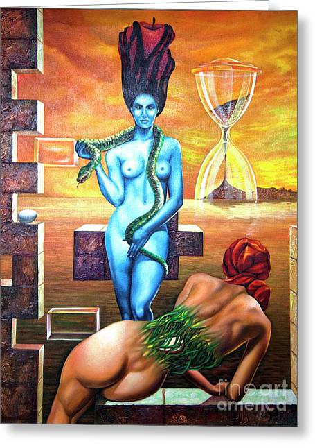 Genesis Greeting Card by Jorge L Martinez Camilleri