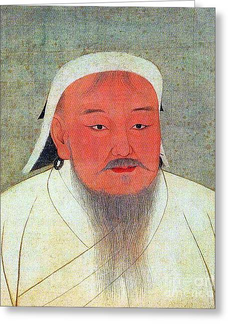 Genghis Khan, Supreme Emperor Greeting Card by Science Source
