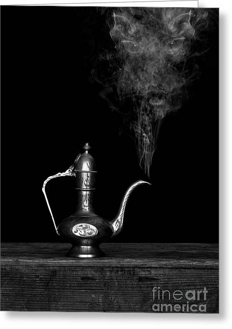 Genie And The Lamp Greeting Card