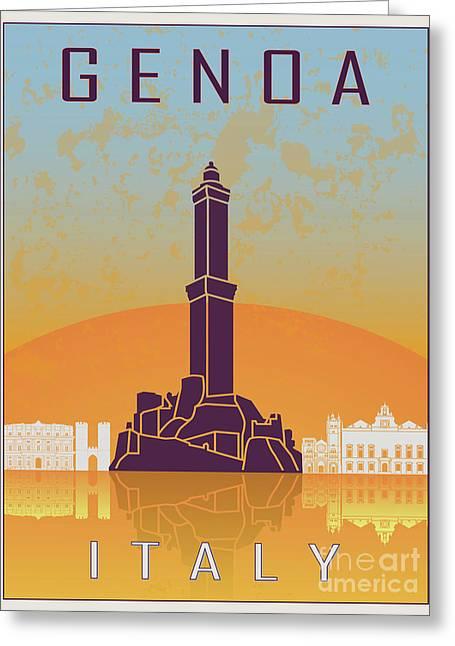 Genoa Vintage Poster Greeting Card