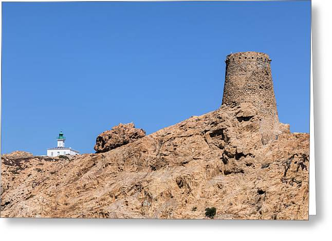 Genoese Tower L'ile Rousse - Corsica Greeting Card