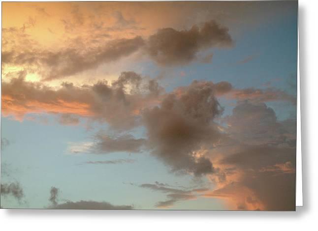 Gentle Clouds Gentle Light Greeting Card