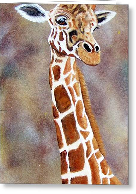 Gentle Giraffe Greeting Card