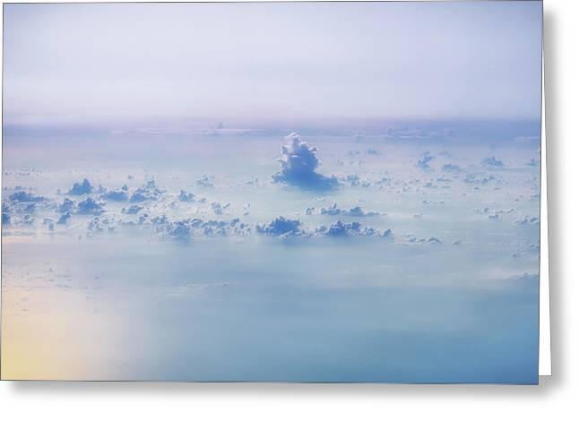 Gentle Haze Above The Sea Greeting Card by Yuka Ogava