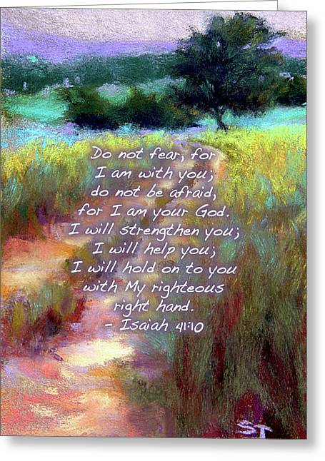 Gentle Journey With Bible Verse Greeting Card by Susan Jenkins