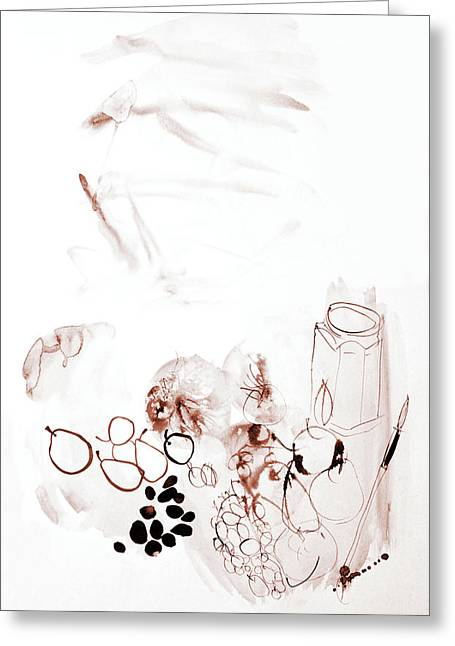 Gentle Still-life With Fruits - Watercolor Art By Gala Sofie Kuhn Greeting Card by Gala Sofie Kuhn