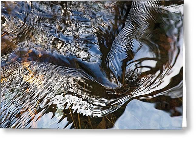 Gentle Swirl Ripple In River-3 Greeting Card