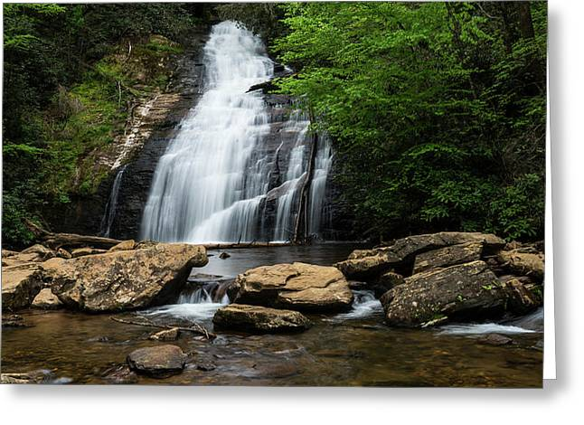 Gentle Waterfall North Georgia Mountains Greeting Card