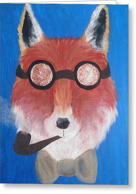 Gentleman Fox Greeting Card by Melissa Mills