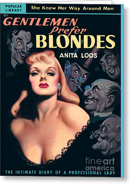 Gentlemen Prefer Blondes Greeting Card