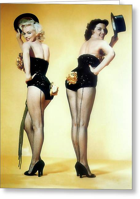 Greeting Card featuring the painting Gentlemen Prefer Blondes by R Muirhead Art