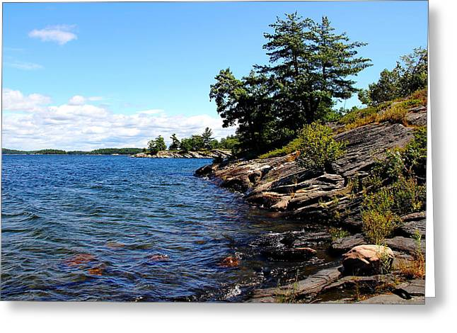 Gently Lapping The Shore Greeting Card by Debbie Oppermann