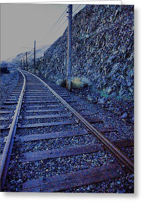 Greeting Card featuring the photograph Gently Winding Tracks by Jeff Swan