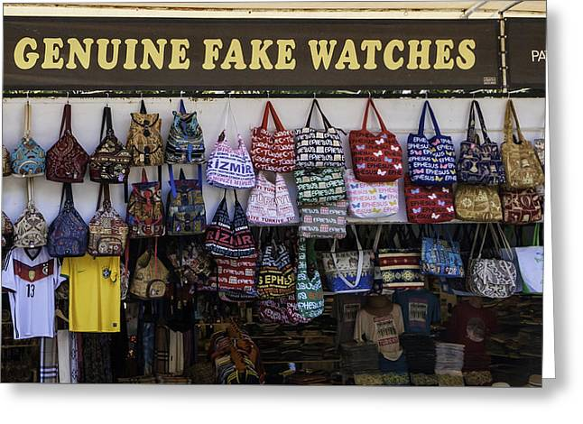 Genuine Fake Watches Greeting Card by Phyllis Taylor