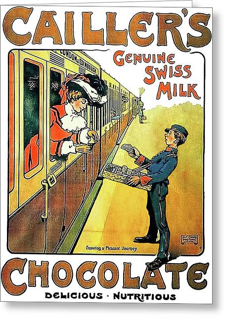 Genuine Swiss Chocolate Greeting Card by Long Shot